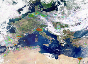Ammonia distributions in 2008 measured by IASI/MetOp above Europe